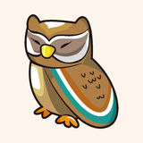 Owl cartoon theme elements vector,eps Royalty Free Stock Images