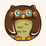 Owl cartoon theme elements vector,eps Stock Photo