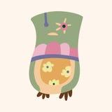 Owl cartoon theme elements vector,eps. Vector illustration file Royalty Free Stock Image
