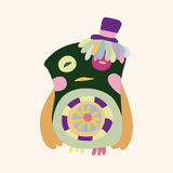 Owl cartoon theme elements vector,eps. Vector illustration file Royalty Free Stock Images