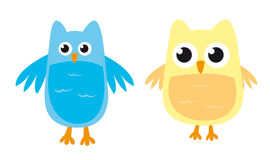 Owl cartoons Stock Photos