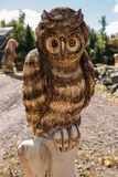 Owl wood carving Royalty Free Stock Photo