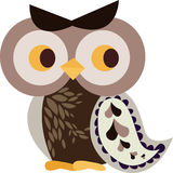 Owl character. Simple owl character graphic design Royalty Free Stock Photos