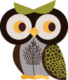 Owl character. Simple owl character graphic design Stock Photography