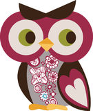 Owl character. Simple owl character graphic design Stock Images