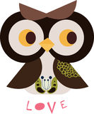 Owl character. Simple owl character graphic design Stock Image