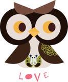 Owl character Stock Image