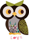 Owl character. Simple owl character graphic design Royalty Free Stock Images