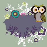 Owl character Stock Photo
