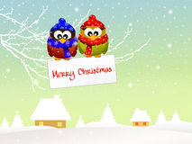 Owl at Christmas Royalty Free Stock Photo