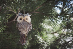 Owl christmas toy Stock Photography