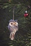 Owl christmas toy Royalty Free Stock Photos