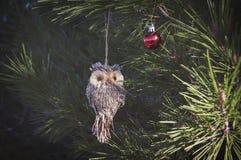 Owl christmas toy Royalty Free Stock Photo