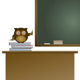 Owl in the classroom Royalty Free Stock Photography