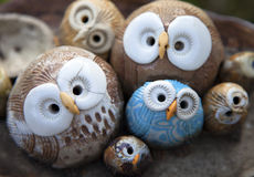 Owl Clay Handicrafts Stock Photography