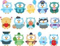 Owl Clipart Set sveglio illustrazione di stock