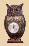 Owl clock Stock Photography