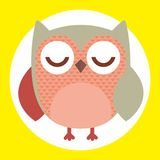 Owl with closed eyes. An illustration of an owl with closed eyes Royalty Free Stock Image