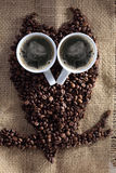 Owl coffee Stock Images