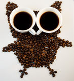 Owl coffee Royalty Free Stock Photo