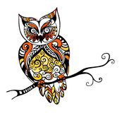 Owl. Colorful beautiful illustration with an owl Stock Photography