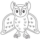 Owl coloring page Stock Photo