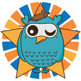 Owl cool like mouse Stock Image