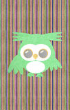 Owl created from textured paper Royalty Free Stock Images