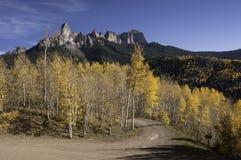 Owl Creek Pass met Schoorsteenrots stock afbeelding