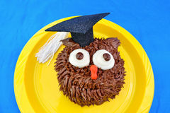 Owl Cupcake for Graduation Royalty Free Stock Images