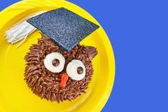 Owl Cupcake Looks a echar a un lado Imagen de archivo libre de regalías