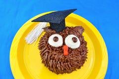 Owl Cupcake para la graduación Imágenes de archivo libres de regalías