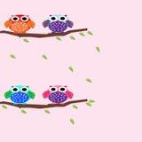 Owl Cute Cartoon. Simple Design Logo for art kids, website, drawing book, cartoon, wallpaper bedroom Stock Photography