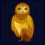 Owl on dark fone Stock Photography