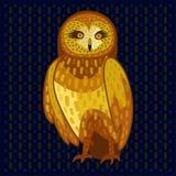 Owl on dark fone Stock Photography