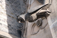 Owl on the decoration of the Catholic Basilica in Prague Stock Images