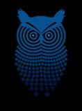 Owl. Decorative image of owl on a black background Royalty Free Stock Photo