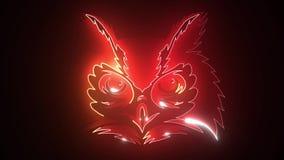 Of an owl design on black background, Bird. Animal. Wildlife.