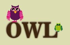 Owl design Stock Photography