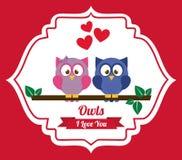 Owl design Stock Images