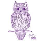 Owl. Design Zentangle. Stock Images
