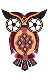 Owl from difficult geometrical figures. Vector illustration for your design Stock Images