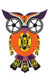 Owl from difficult geometrical figures. Vector illustration for your design Stock Photos