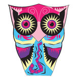 Owl from difficult geometrical figures. Vector illustration for your design Royalty Free Stock Photo