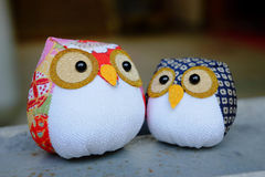 Owl dolls Stock Images