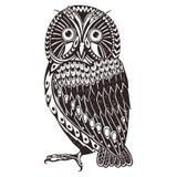 Owl doodle art Stock Image