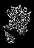 Owl Doodle Freehand Vector libre illustration