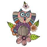 Owl Doodle Freehand Vector vector illustratie