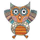 Owl Doodle Freehand Vector Illustration de Vecteur
