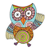Owl Doodle Freehand Vector Illustration Stock